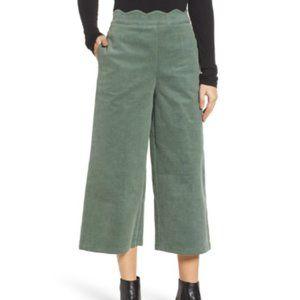 BP. Corduroy Scallop Waist Wide Leg Pants (Plus)